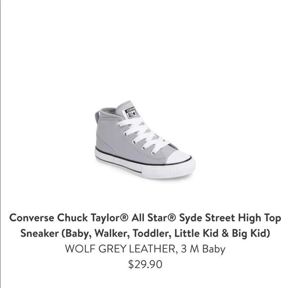 e770fe8e2ec565 Baby light grey converse size 3